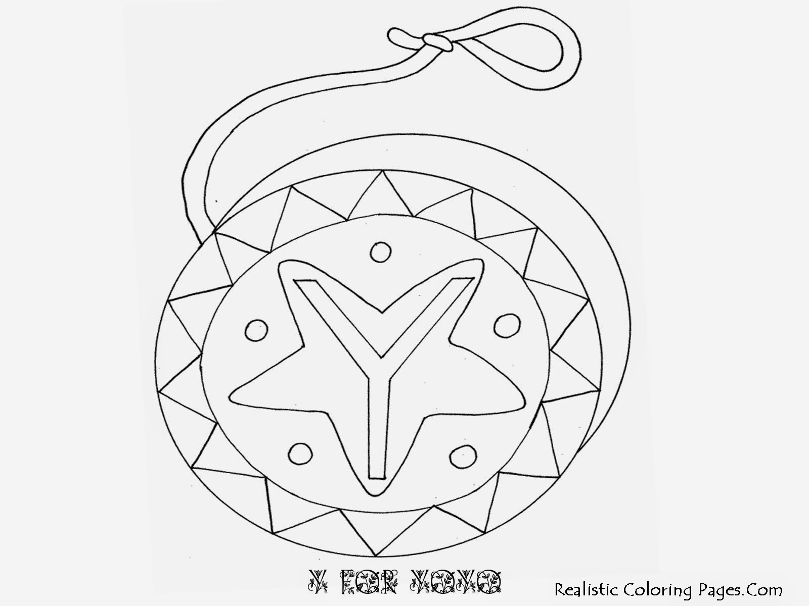 Alphabet Coloring Pages Y FOR YOYO