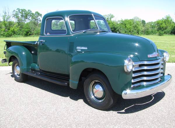 Perfect Restoration 1949 Chevrolet 3100 Pickup