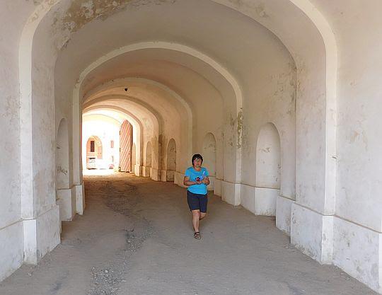 Wyjście z fortu.