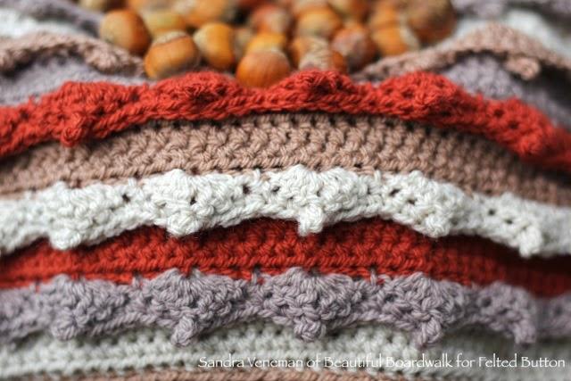 Eventide Blanket Crochet Pattern (Design by Susan Carlson of Felted Button) Sample by Sandra Veneman of Beautiful Boardwalk