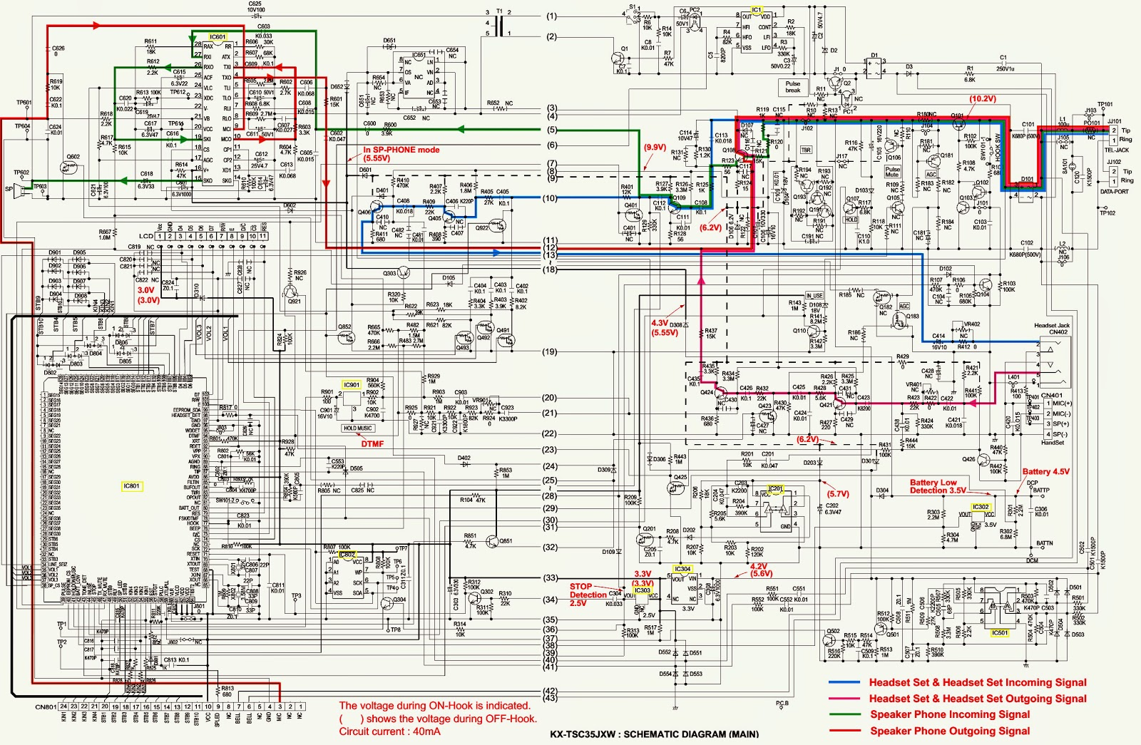 Fine Telephone Schematic Basic Electronics Wiring Diagram Wiring Digital Resources Attrlexorcompassionincorg