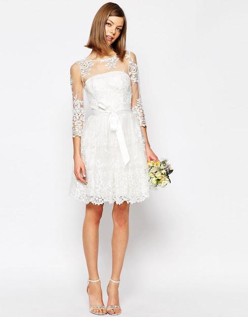 asos wedding dress, mini wedding dress, short wedding dress asos, asos wedding dress review,