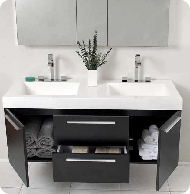 modern floating bathroom vanity