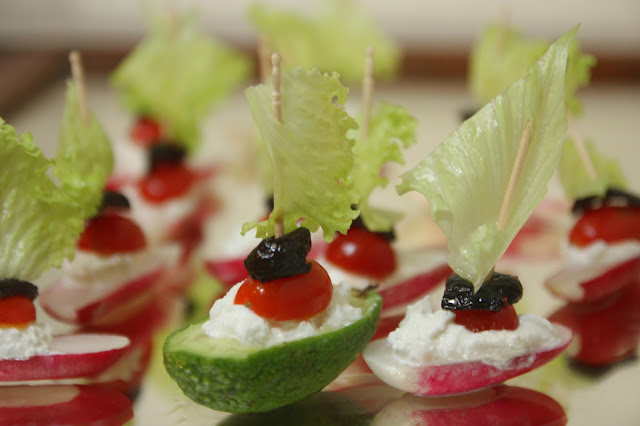 Radish & Avocado Sail Boats with Ricotta - Gluten-free Organic Recipe