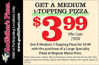 free Godfathers Pizza coupons for february 2017