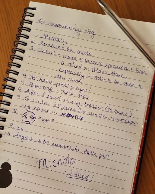 The Handwriting Tag