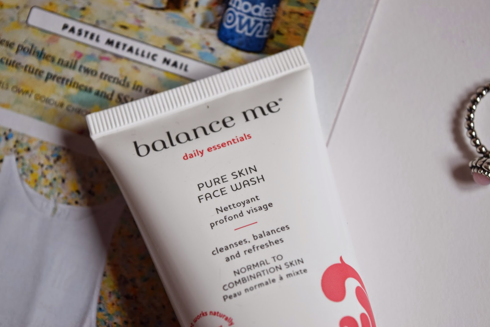 a close up shot of the label on the facewash
