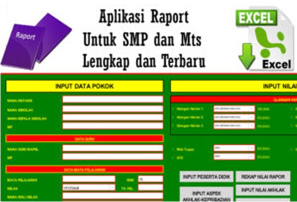 Download Aplikasi Raport Tematik MI/MTs MA terbaru