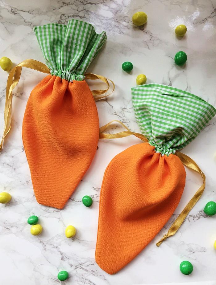 DIY - Jak uszyć woreczki marchewki na słodycze?
