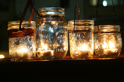 These are similar to the idea of Mason Jar Lanterns we used at my sister 39s