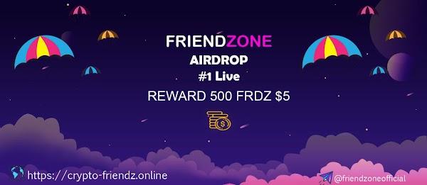 Airdrop from Friendzone | Free 500 FRDZ ($5)