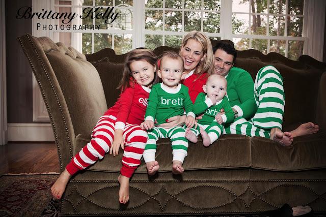 Family Christmas Pajamas Photoshoot.Brittany Kelly Photography The Murphey Family Christmas Fun