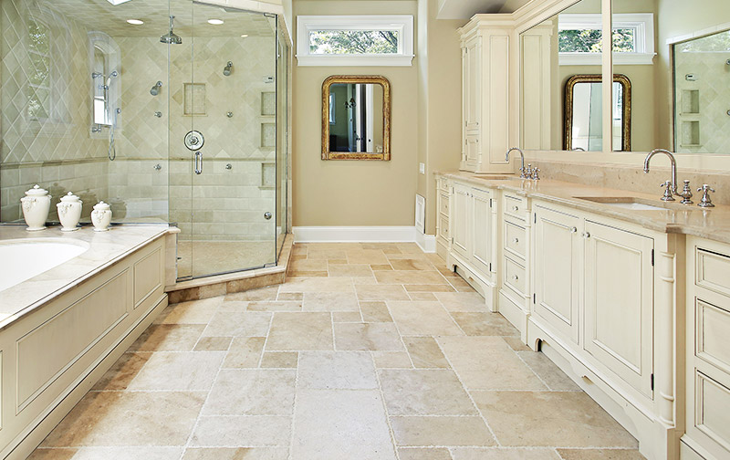 bathroom floors warm with radiant heat