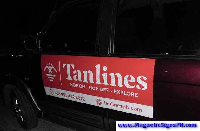 Car Magnet Sign - Tanlines Philippines
