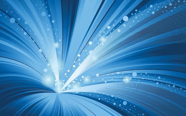 Blauwe abstracte achtergrond met lichtgevende lijnen