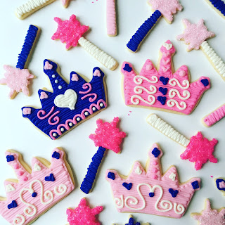 Pink and Purple Princess Party Themed Cookies