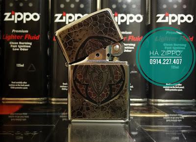 Zippo hình con dơi - MS1512 | Zippo độc | Zippo cổ | Zippo men