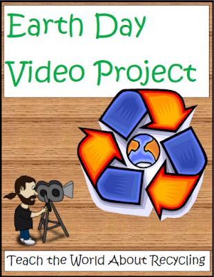 Free Earth Day video project for reusing, reducing and recycling - great persuasive project from Raki's Rad Resources.