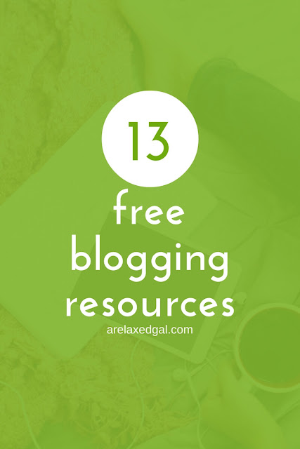 You don't need a lot of money to create a professional looking blog. Check out this list of 13 free blogging resources. | arelaxedgal.com