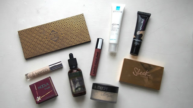 Selection of beauty products