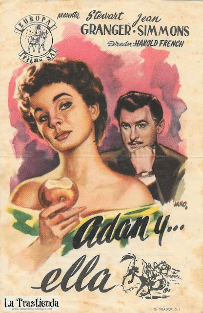 Adán y Ella - Programa de Cine - Jean Simmons - Stewart Granger