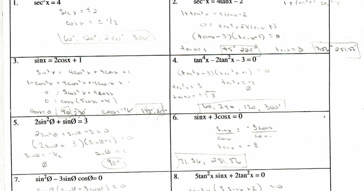 Trig identities worksheet pdf