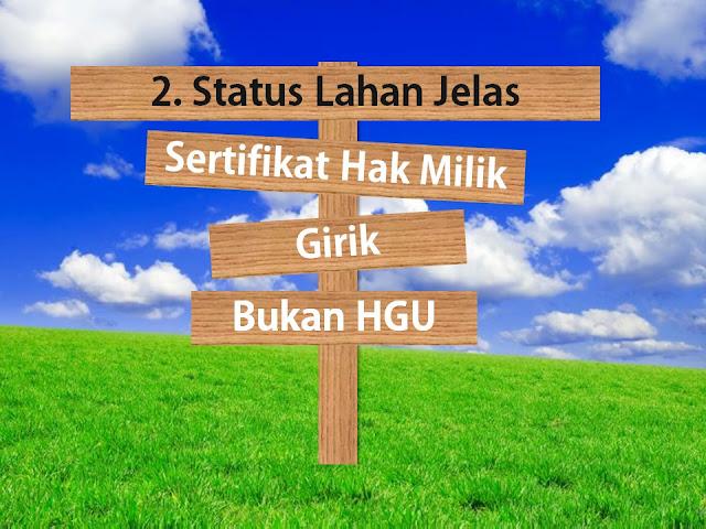 Status lahan di kampung buah cikalong adalah hak milik