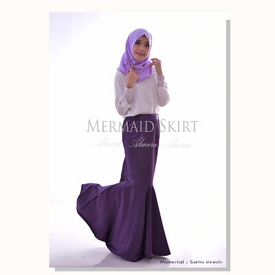 rok pesta, rok panjang pesta, rok duyung, mermaid skirt, rok mermaid, rok satin, rok muslimah