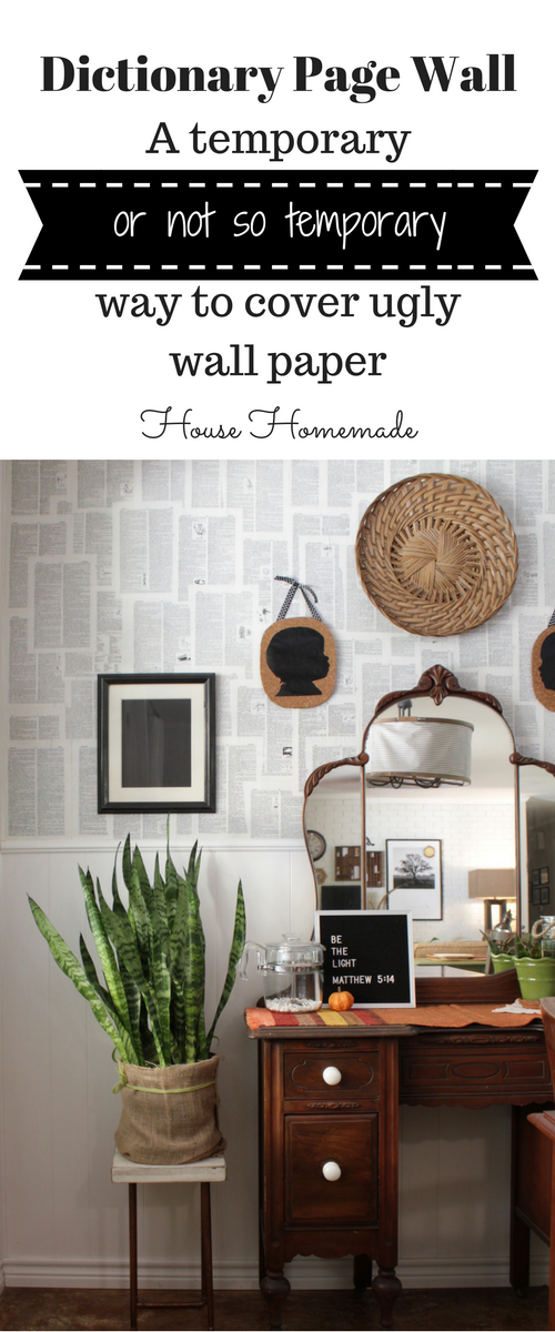 Dictionary Page Wall Tutorial | House Homemade