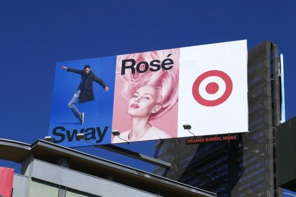 Sway Rosé Target billboard
