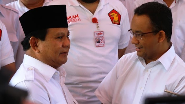 Survey Membuktikkan, Anies Baswedanlah Pasangan yang Cocok Untuk Dampingi Prabowo Subianto, Cemeweeeu Sama-sama....