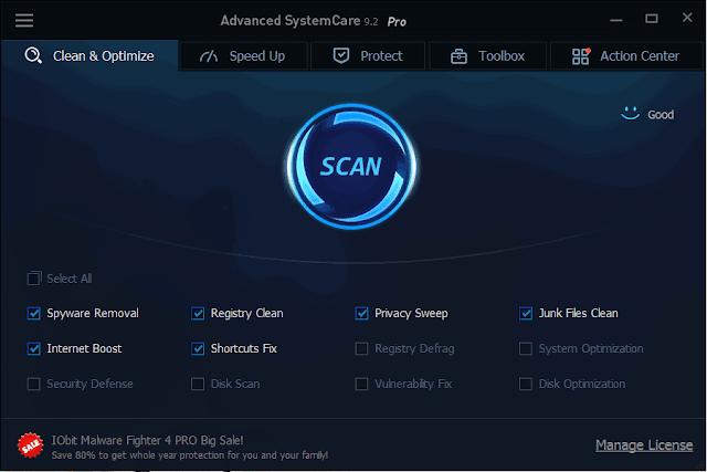 تحميل برنامج  Advanced SystemCare Pro v9.2  كامل مع التفعيل اخر اصدار