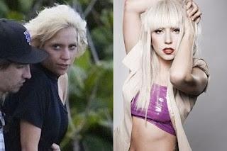 fotos de famosos antes e depois da maquiagem - lady gaga