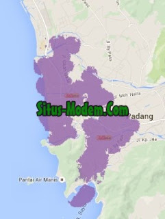 Jangkauan Jaringan 4G Indosat Ooredoo  Sumatera Barat