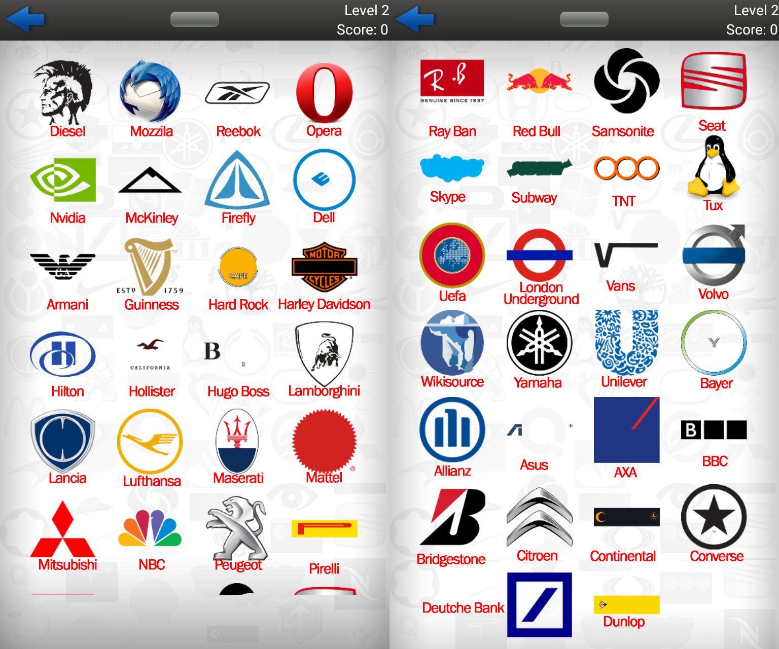 Logo Quiz Ultimate Level 2 Answers (symblCrowd) ~ Doors Geek