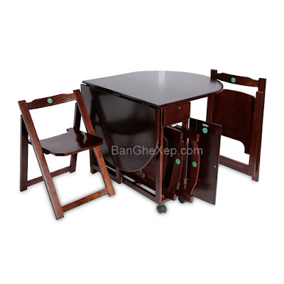 Bàn ghế xếp tokyo oval Lộc Lâm Furniture