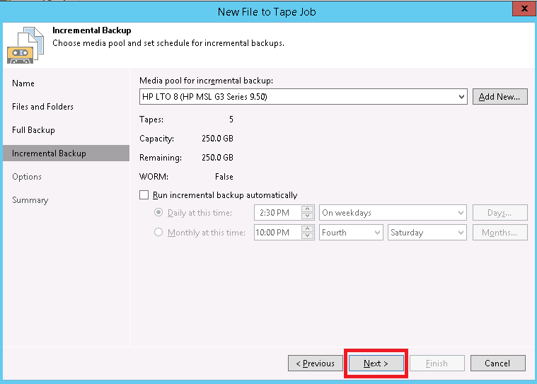 How to Create File to Tape Job in Veeam Backup and Replication