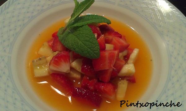 fruta, ensalada de frutas, fresas, naranja, platano