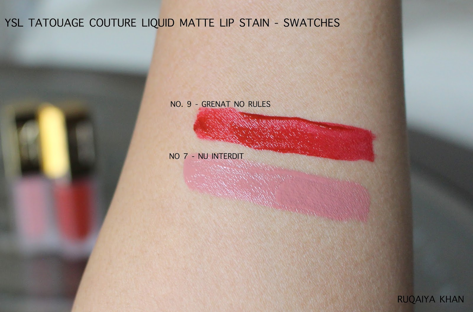 Ruqaiya Khan Ysl Tatouage Couture Liquid Matte Lip Stain