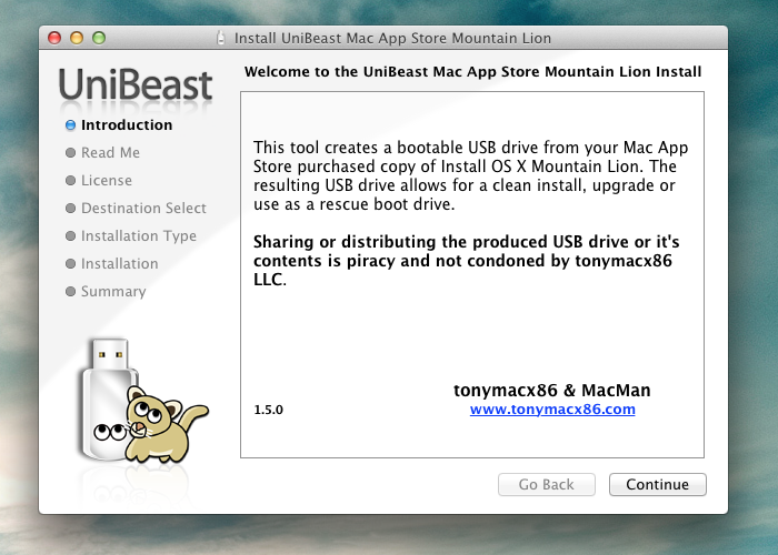 How to install OS X Mountain Lion on your PC with Unibeast