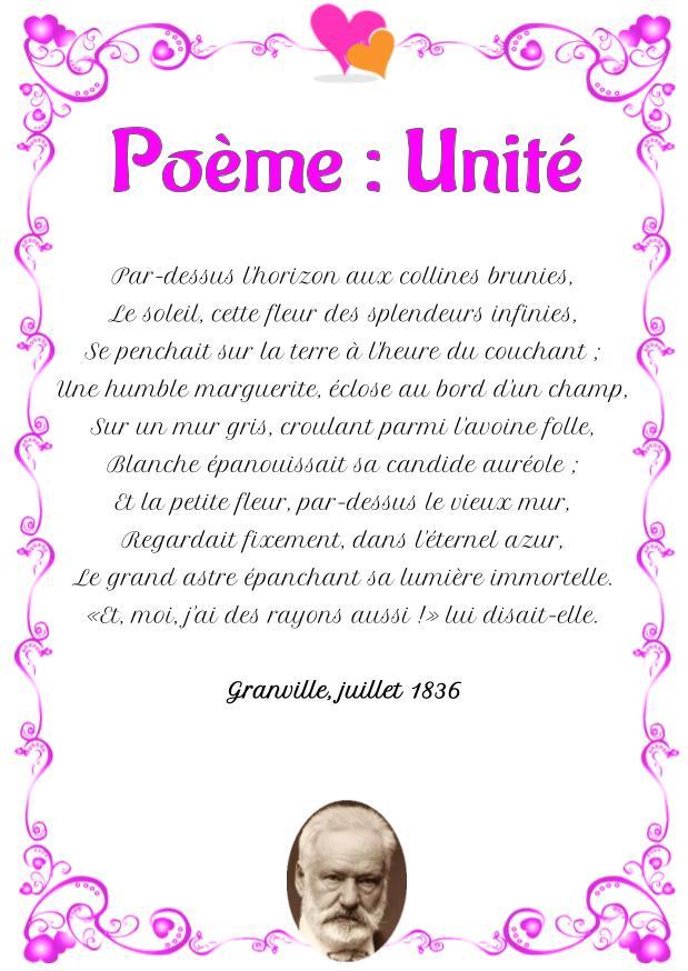 Poème : Unité de Victor Hugo