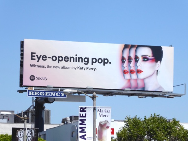 Katy Perry Eye opening pop Spotify billboard