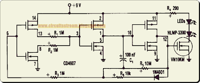 Build a 3 Channels LED Flasher Circuit Diagram