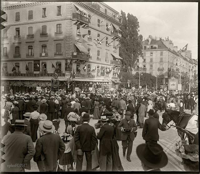 Genève rue du Mont-Blanc 1902 voyage Suisse