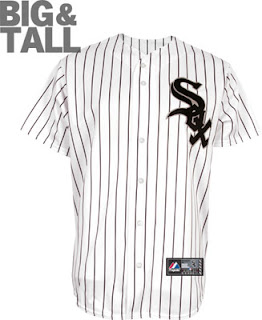 Chicago White Sox Big and Tall White Pinstripe Jersey