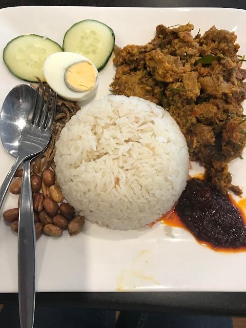 Jonker Street Restaurant, Doncaster East, nasi lemak with beef rendang