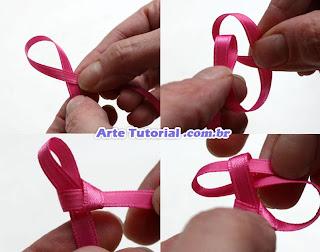 Passo a passo para decorar arco com fita rosa