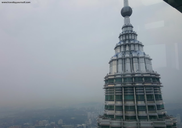 Petronas Twin Towers View of other tower from top