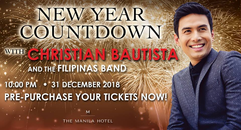 The Manila Hotel's New Year Countdown with Christian Bautista