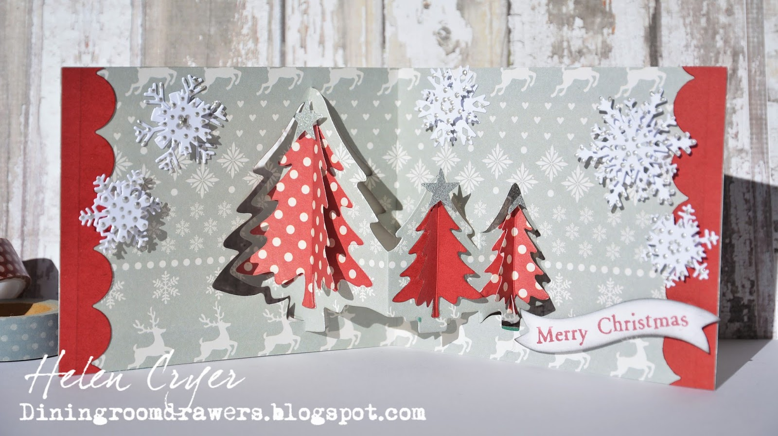 The Dining Room Drawers: Evergreen Pivot Christmas Tree Pop It Ups Card